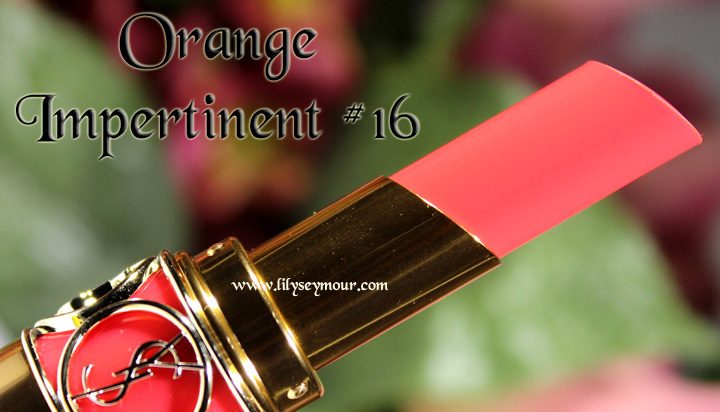 YSL Orange Impertinent Lipstick #16