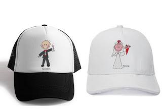 Boné para noiva e casamentos personalizado com bordado | Noiva e Noivo