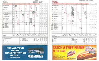 Phillies scorecard, 07-04-06