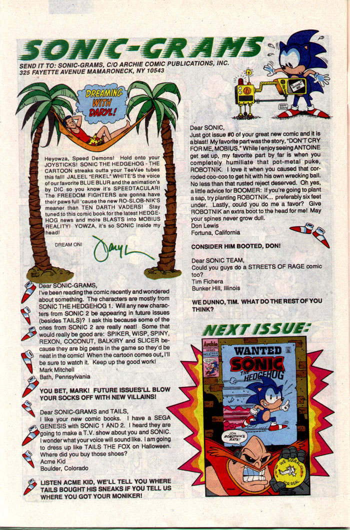 Read online Sonic The Hedgehog comic -  Issue #1 - 29