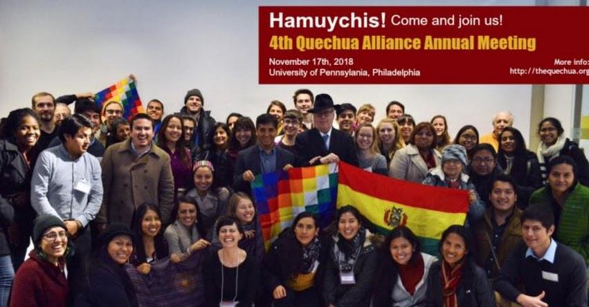 Peruanos que enseñan quechua en EE.UU. se reunirán la próxima semana en la Universidad de Pensilvania - Philadelphia