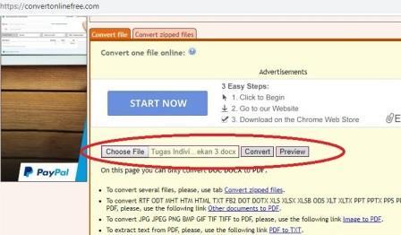 Cara Merubah File Ms Word ke PDF Online