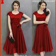 A11SPM Fashion Dress New, Warna Maroon Pita Bj139A