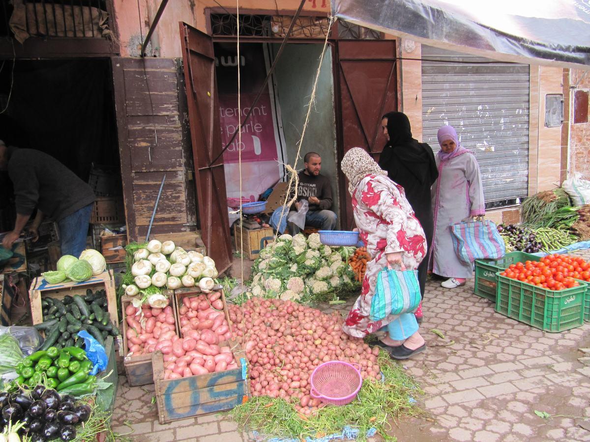 zocos de Marrakech, verdura, mercadillos, Marruecos, marrakech