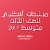 مرشحات الانكليزي للصف الثالث متوسط 2017