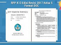 RPP K13 Edisi Revisi 2017 Kelsa 5 Format DOC