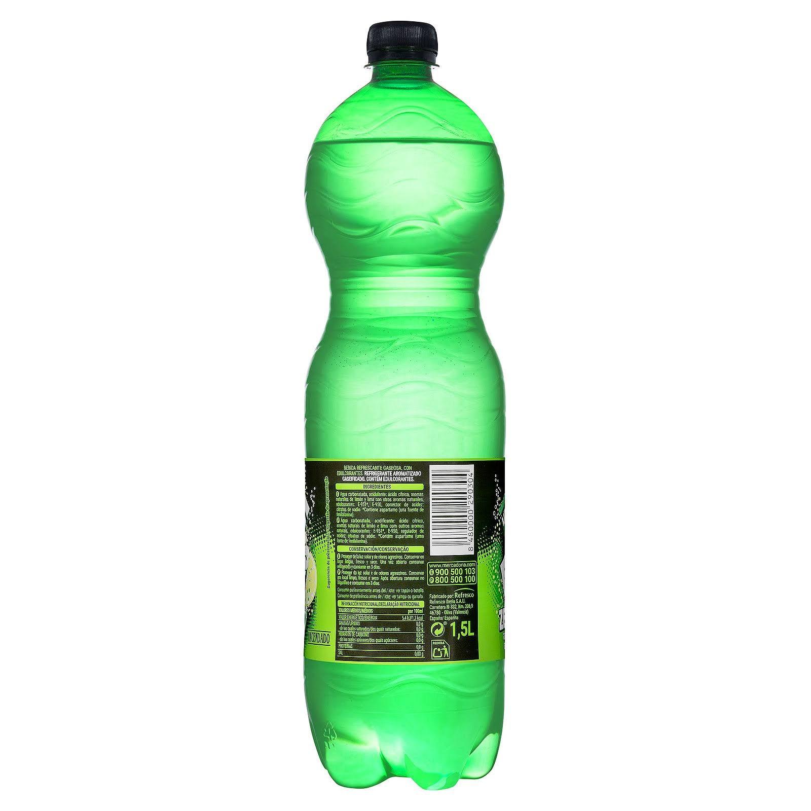 Refresco de lima-limón Fresh Gas zero Hacendado