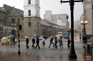 Bogotá con lluvia