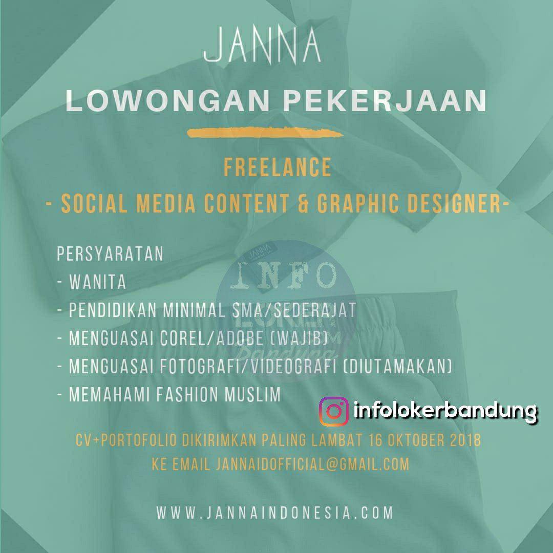 Lowongan Kerja Janna Indonesia Bandung Oktober 2018