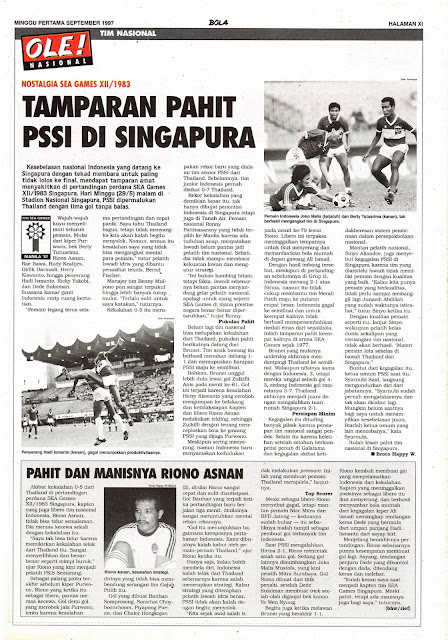 TIM NASIONAL: NOSTALGIA SEA GAMES XII/1983