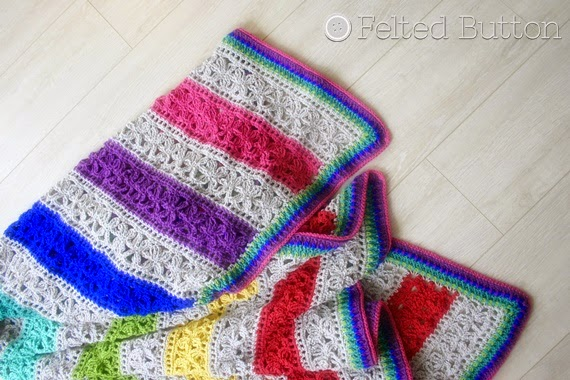er the Awning Blanket crochet pattern by Susan Carlson of Felted Button