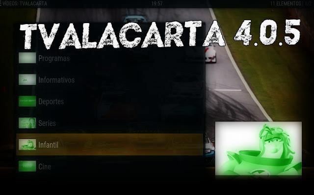 TVALACARTA 4.0.5 para KODI
