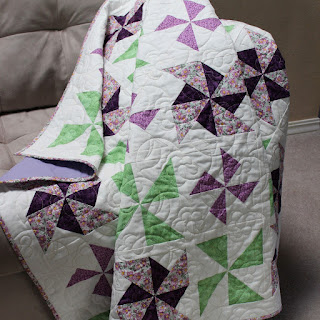 PURPLE PINWHEEL QUILT-QUILT FOR SALE