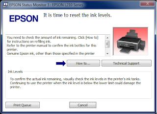 how to resolve Epson Error