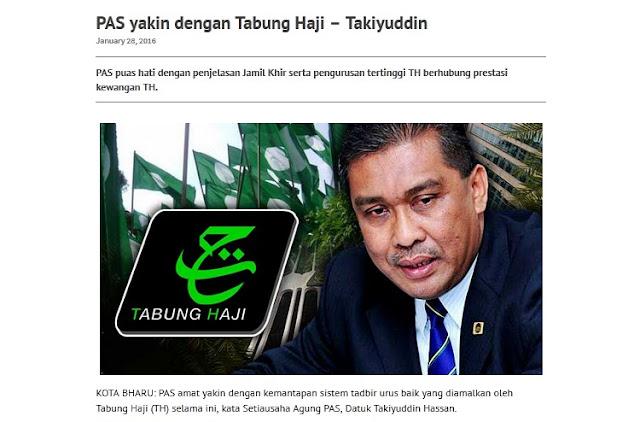 Image result for Foto Pas berpuashati mengenai Tabung Haji