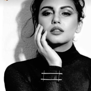 huma qureshi hot in black dress