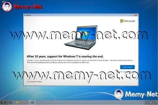 مايكروسوفت تبدأ بإرسال إشعارات لمستخدمي ويندوز 7