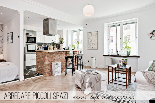 Arredare piccoli spazi mini loft metropolitano home for Piccoli spazi