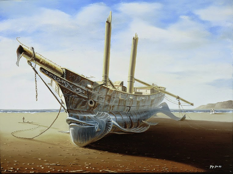 13-Jürgen-Geier-Ships-and-Maritime-Surreal-Paintings-www-designstack-co