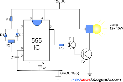 pwm lamp dimmer using ne555 schematic diagram data schema