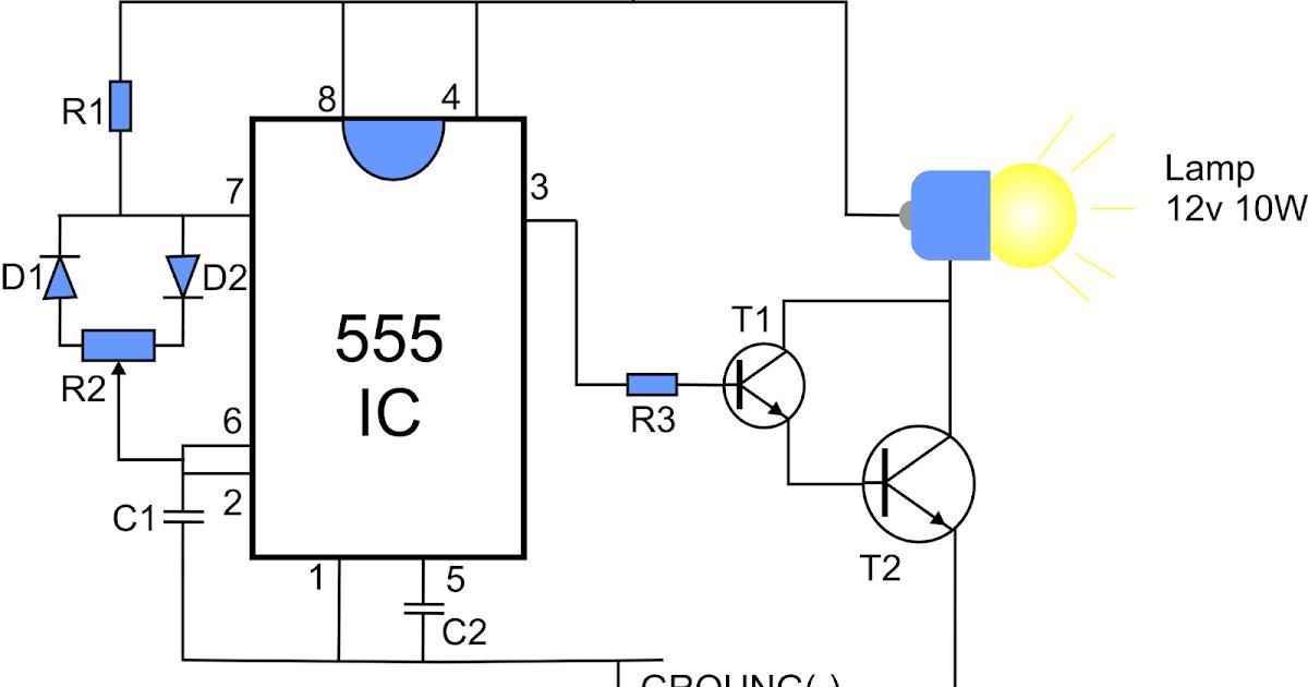 diy pwm lamp dimmer using 555 ic
