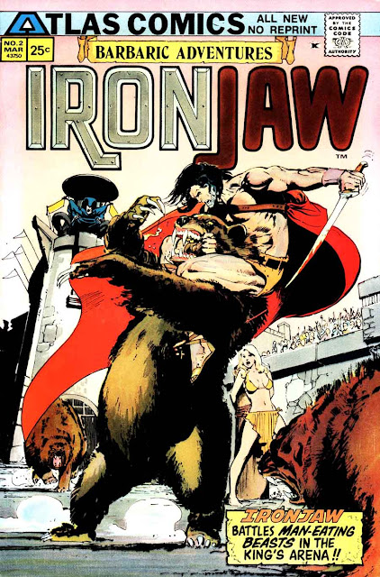 Ironjaw v1 #2 atlas seaboard comic book cover art by Neal Adams