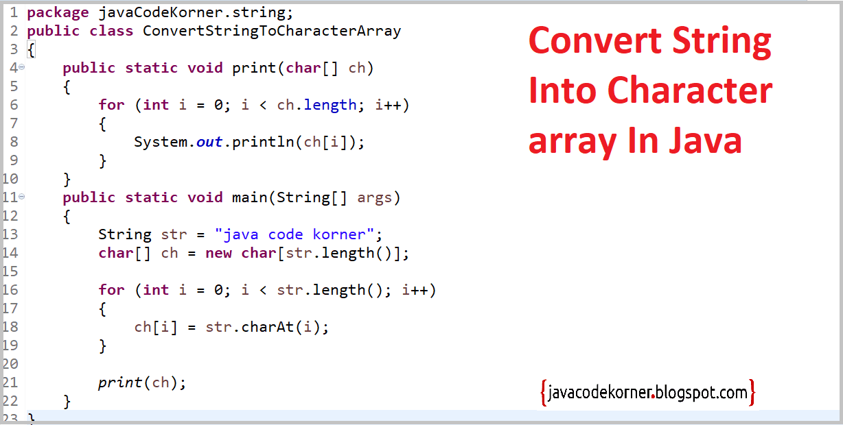 How To Convert String Into Character Array In Java? - Java