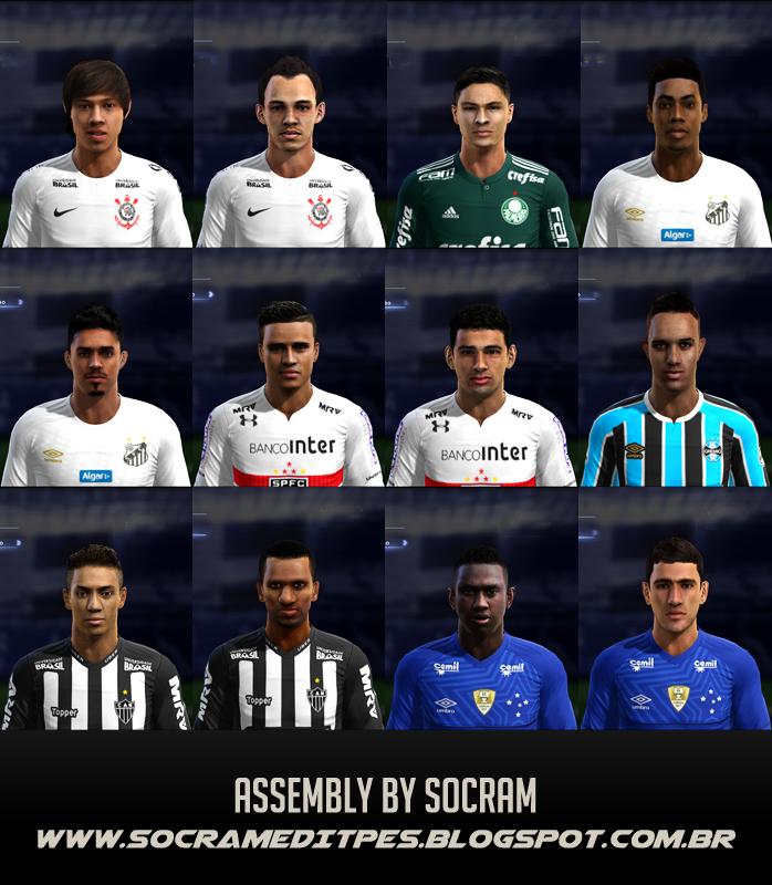 FACES by Socram | Mega Facepack V.1 - Brasileirão A Preview