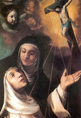 Santa Catalina de Siena Recibiendo los Estigmas de Jesus Crucificado