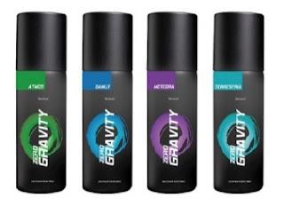 Buy Zero Gravity Deodorants (Meteora+ Terrestreria+Atmos+Gamut) – 4 x 150 ml worth Rs.640 just  for Rs.327  (Rs.82 each) Valid till 20th June'13