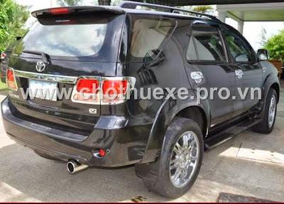 Cho thuê xe Toyota Fortuner V 4X4 tại Hà nội