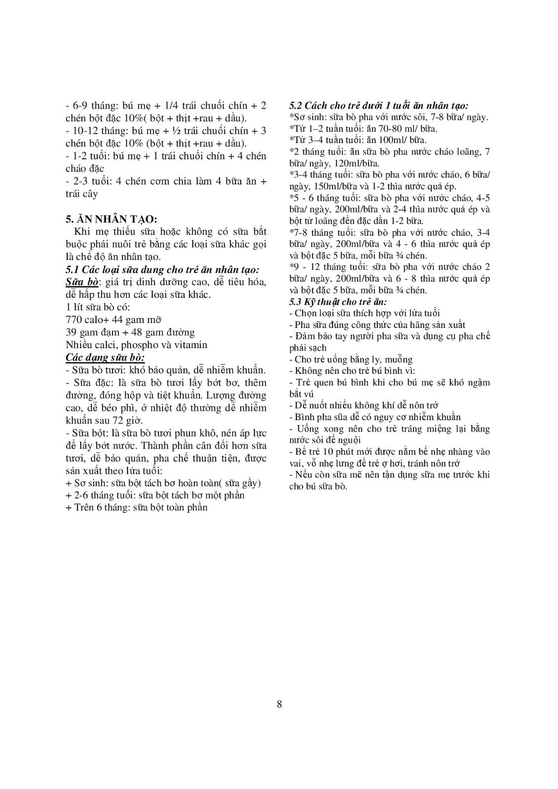 Trang 8 sach Bài giảng Nhi khoa - ĐH Y khoa Phạm Ngọc Thạch