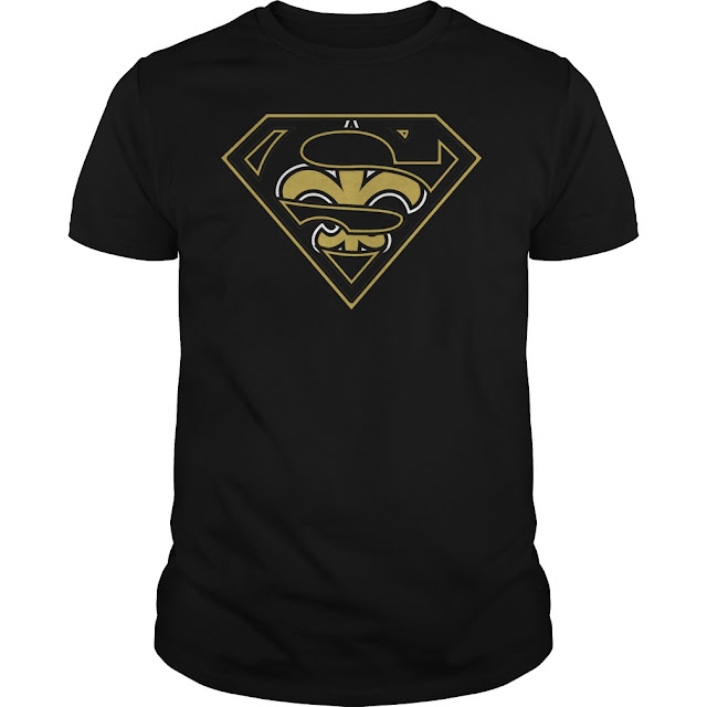 New Orleans Saints Superman Logo Shirt
