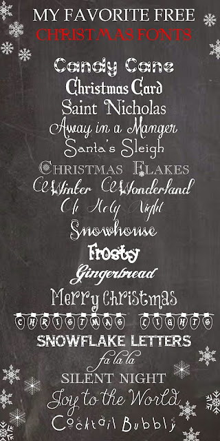 Favorite Free Christmas Fonts from herecomesthesunblog.net