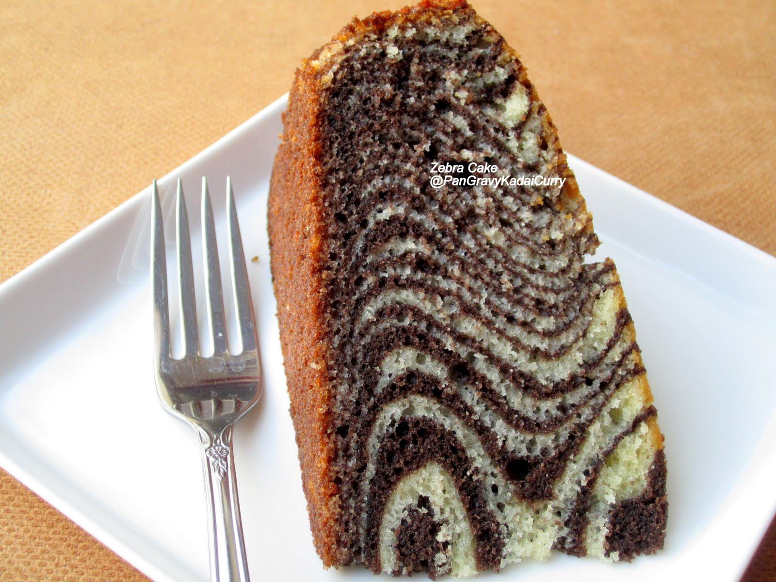 Egg Cake Recipe In Kadai: Pan Gravy Kadai Curry: Zebra Cake