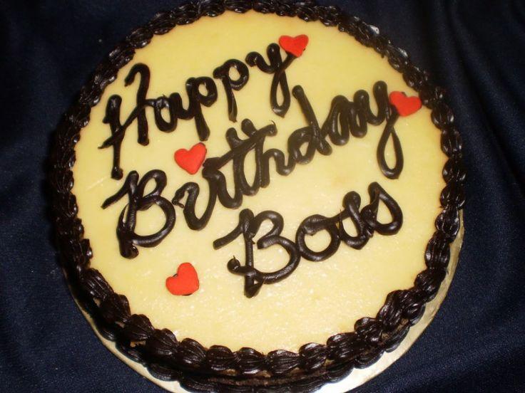 birthday cake for boss