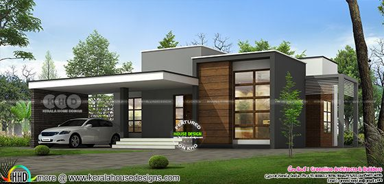 Most modern single floor 1600 sq-ft house