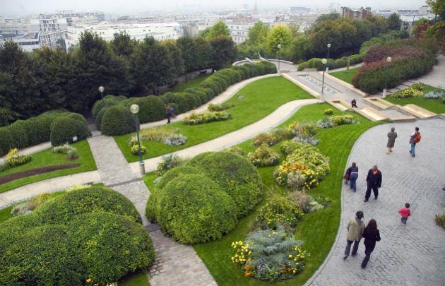 Parc Belleville em Paris