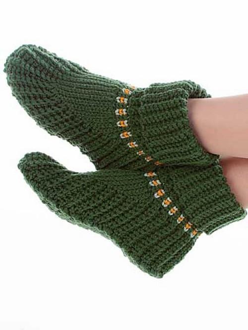 Slipper Boots - Free Pattern