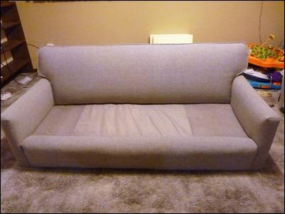 sofa com pano novo