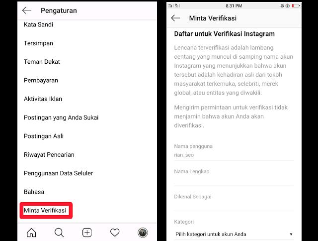 Cara Mendapatkan Centang Biru di Instagram, Link Verifikasi Instagram