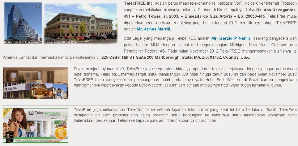 Peluang Bisnis Telexfree Profile