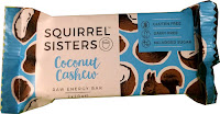 Squirrel Sisters coconut and cashew nut raw energy bar