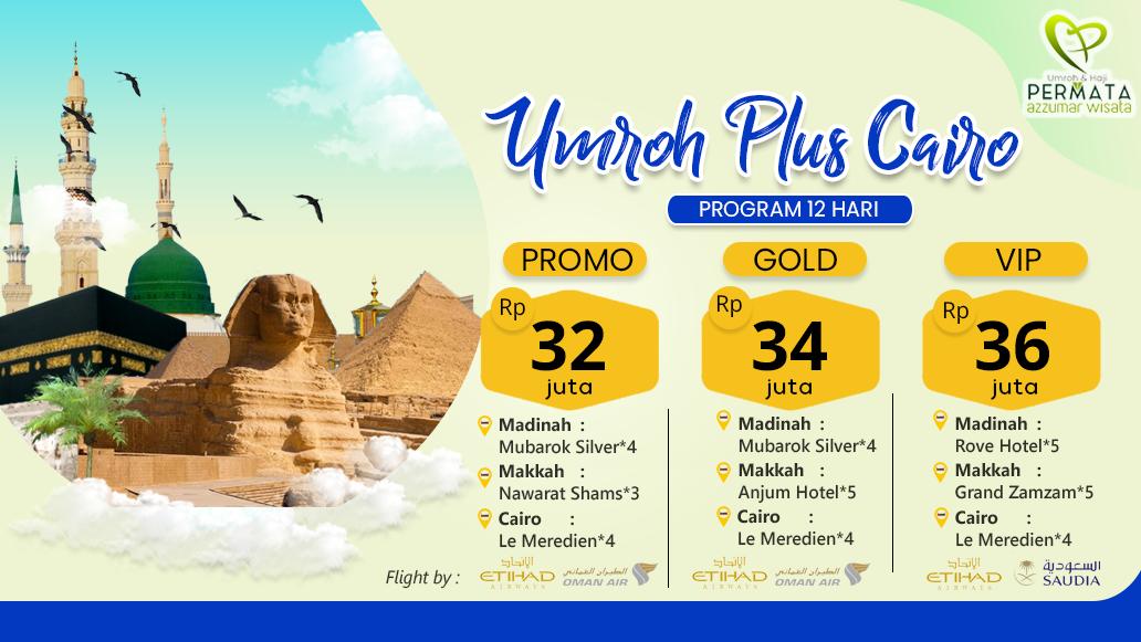 Biaya Paket Promo Umroh Plus Cairo Murah 2019 - 2020