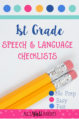 Give teachers these checklists when they have concerns about students and speech and language skills