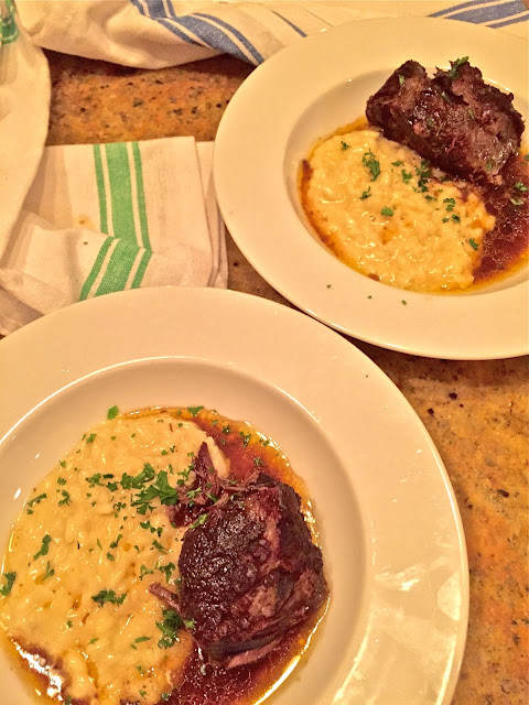 Pressure Cooker Beef Short Ribs with Risotto