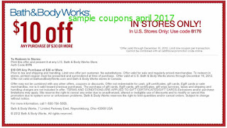 Bath And Body Works coupons april