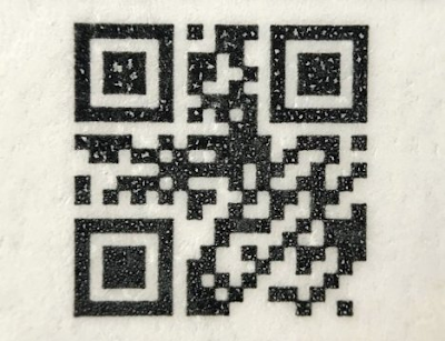 Photo of a UPC code enhanced to verify product authenticity.