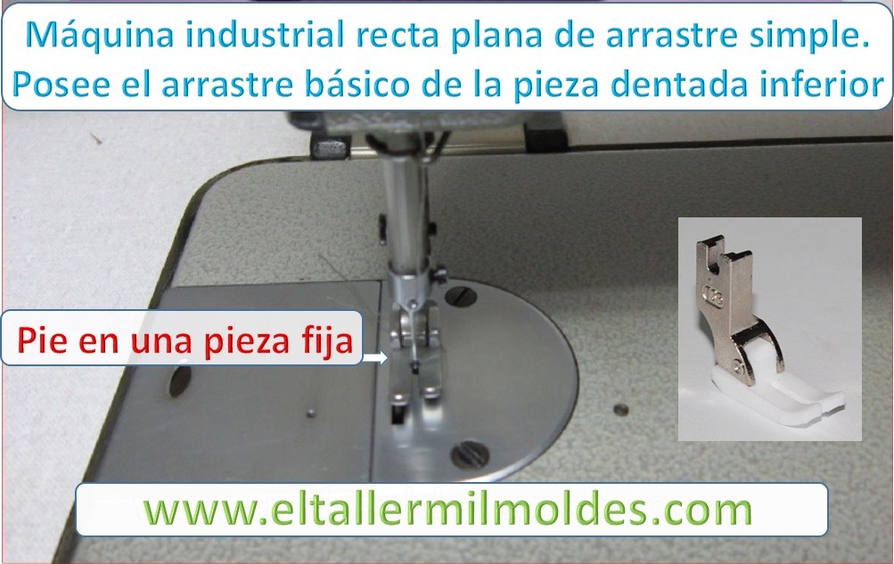MAQUINA DE COSER RECTA INDUSTRIAL DE ARRASTRE SIMPLE