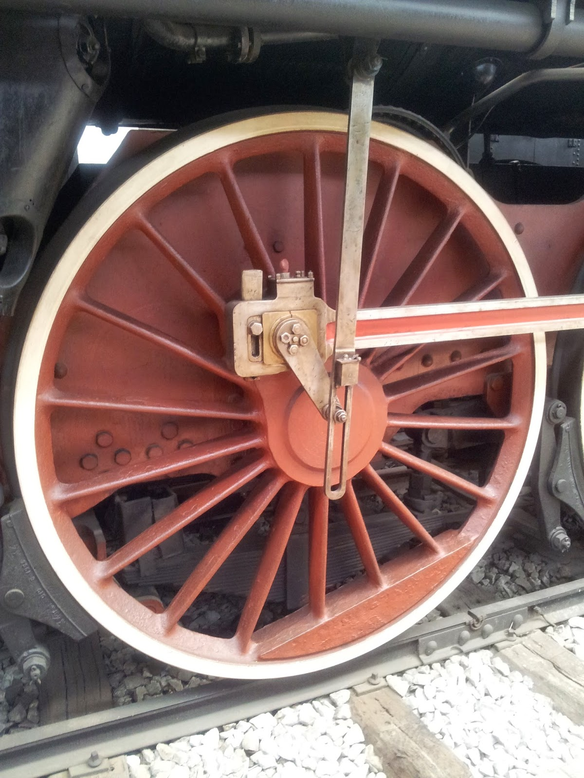 Steam locomotive wheel, Museum of Science and Technology, Milan